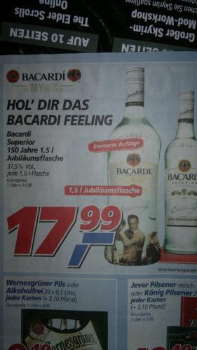 Bacardi 1,5L Jubiläumsflasche für 17,99€ bei real nächste Woche!