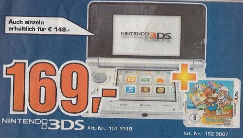 [Saturn Reutlingen, regional/lokal?] Nintendo 3DS + Paper Mario Sticker Star