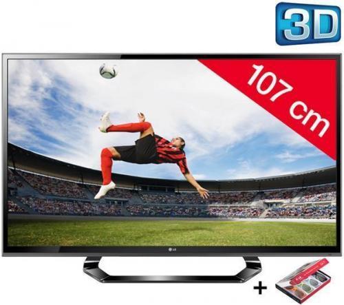 LG 3D LED-Fernseher 42LM615S 42 Zoll Energieeffizienzklasse A (HD TV 1080p, 42 Zoll   (107 cm) 16/9, 200Hz, DVB-T HD, 3D Ready, Ethernet, HDMI x3, USB 2.0 x2) für 489€   inkl.Versand