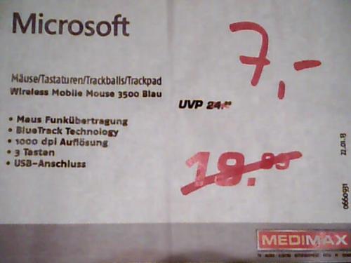 (Medimax offline Berlin-Neukölln) Microsoft Wireless Mobile Mouse 3500; 2000; Microsoft Explorer Touch Mouse