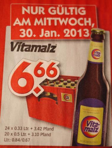 Am Mittwoch (30.01): Kasten Vitamalz @ Hol ab!