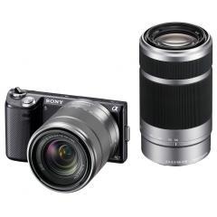 Sony NEX-5N Digitalkamera mit Wechselobjektiven 18 bis 55 mm und 55 bis 210 mm @Sony Outlet Store