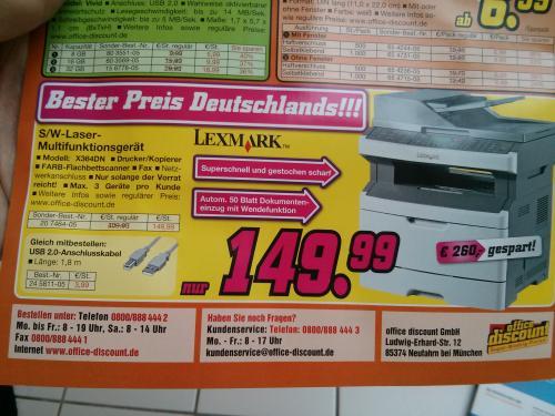 Lexmark Multifunktionsgerät X364DN