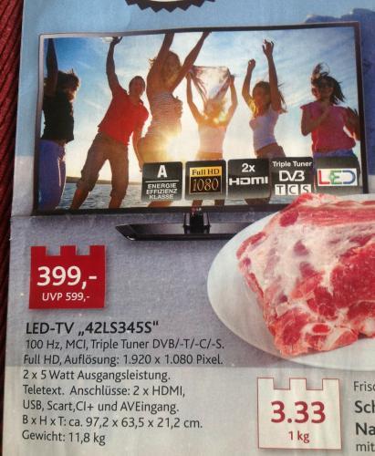 LG 42LS345S für 399€ ab Montag lokal bei EDEKA Helfen in Zülpich