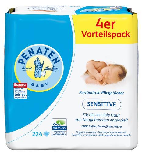 [Bundedweit lokal] @ Müller Penaten Sensitive Pflegetücher für 1,99 statt 4,85 mit Coupon