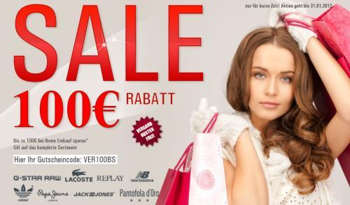 Mehr kaufen mehr Rabatt bis zu 100€ Brands Store