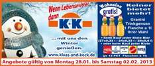 [Regional] Gratisgranini zur Kiste Bier, Coca/Sinalco, Rheinfels/Gerolsteiner/Vilsa
