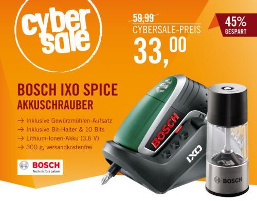 (Cyberport) Bosch IXO Spice Akkuschrauber + Gewürzmühlen-Aufsatz