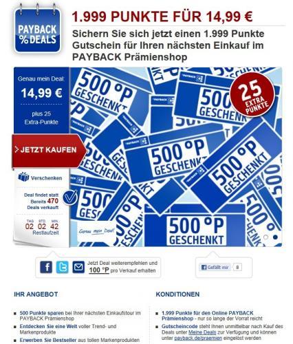 1999 Paypackpunkte für 14,99 € @ Paybackdeals - dadurch z.B 2 Moviechoice Gutscheine + Snack&Softdrink für 14,99€ oder Best Western Travelcard für 14,99€ statt 20€ zu haben