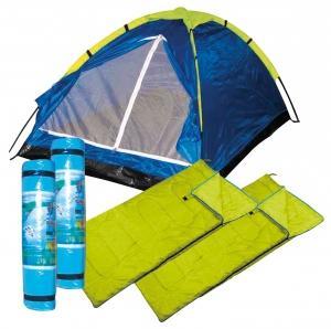 Festivalzeltset Zelt + 2 Schlafsäcke + 2 Isomatten