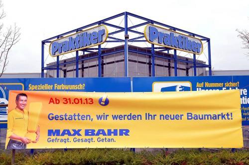 [Lokal] Praktiker - Max Bahr - Umflagg-Liste 20-95 % auf alles!!