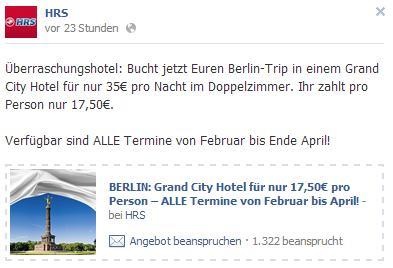 Berlin: Grand City Hotel für nur 35€ pro Nacht im Doppelzimmer