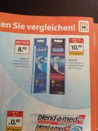 @Müller Oral B Precision Clean Aufsteckbürsten 3 er Packung
