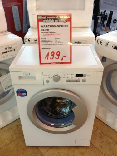 [LOKAL Düsseldorf] Media Markt: Haier HW50-1202D Slimline - Waschmaschine, Frontlader, 5kg, 1200 U/M , EEK:A+