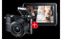 SAMSUNG NX1000 Bundle inkl. Galaxy Tab2 WiFi schwarz