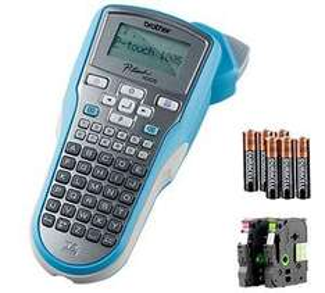 Beschriftungsgerät Brother P-touch 1005 BTS - 15,94 - inkl Versand, 6 Batterien und 2 Bänder