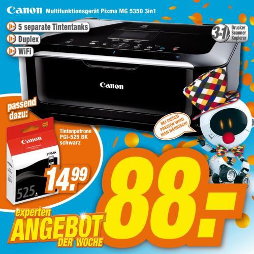 [ab 30.01] Canon Pixma MG5350 Wlan Drucker bei Expert für 88 €