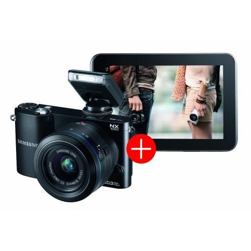 SAMSUNG NX1000 Bundle inkl. Galaxy Tab2 WiFi schwarz oder weiß [Amazon]