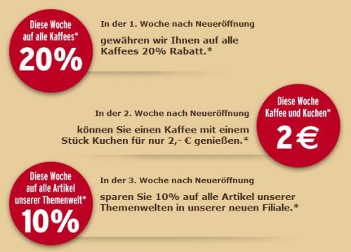 [LOKAL] Tchibo Neueröffnung Filiale Düsseldorf Benrath 30.01.2013 mit tollen Angeboten und gratis Kaffee, EDIT: PrivatCard GRATIS!