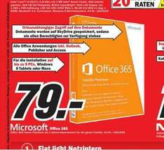 [LOKAL FFM@MM-NWZ] Office 365 Home Premium (Office 2013) für 5 PCs/Macs -> 79€