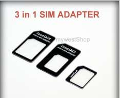 Nano Sim Karten Adapter 3 in 1