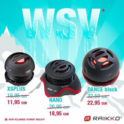 WSV bei RAIKKO - 3 Vacuum Speaker Modelle mit ca. 30% Ersparnis