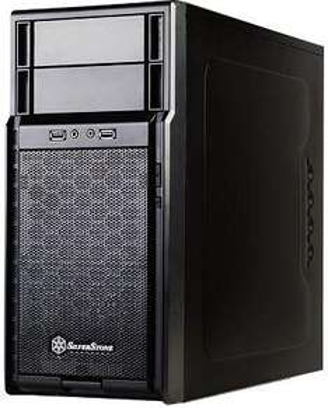 SilverStone Precision PS08 schwarz für 34,94 € mit Gutscheincode  - gutes µATX Gehäuse mit USB3.0 (+2,4% Cashback über Qipu)