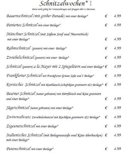 [Lokal + Offline] Schnitzelwochen im Hotel Odenwaldblick Rödermark 4,99 EUR inkl eine Beilage
