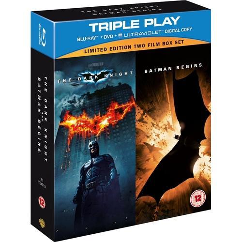 Blu-Ray Box - Batman Begins & The Dark Knight: Triple Play (5 Discs) für €14,03 [@Play.com]