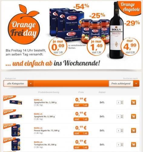 Barilla Nudeln für 0,69€ und Barilla Saucen für 1,49€ bei Allyouneed.com