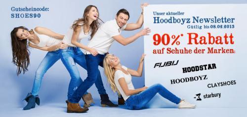 Hoodboyz wieder mal 90 % Rabatt auf Schuhe