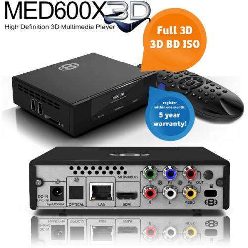 Mede8er MED600X3D 3D Media Player @iBood