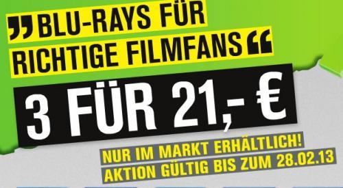 3 für 21 Euro Blu-Ray @Promarkt