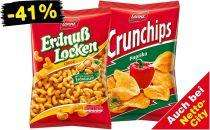 Netto / Netto City: Erdnusslocken & verschiedene Sorten Crunchips