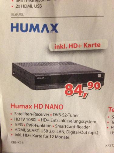 Humax inkl. HD+ Karte