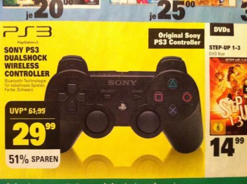 [LOKAL?] Sony PS3 DualShock Wireless Controller 29,99€