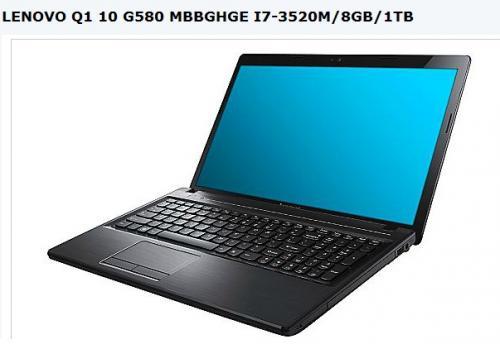 LENOVO Q1 10 G580 MBBGHGE I7-3520M/8GB/1TB