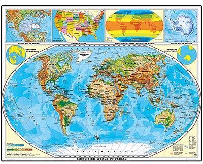 XXL-Weltkarten, laminiert für 7,92€ @ geosmile.de