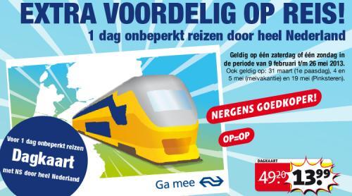 1 Tag durch Holland Zugfahren (nur Samstag oder Sonntag)