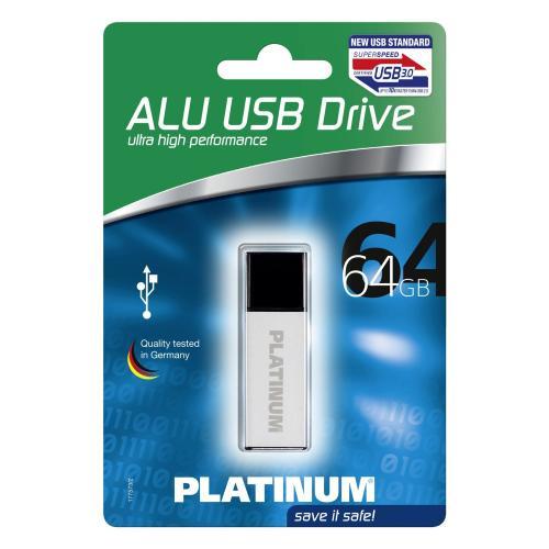 Platinum USB-Stick 64GB ALU, USB 3.0 – günstiger USB 3.0 Stick für 29,04€