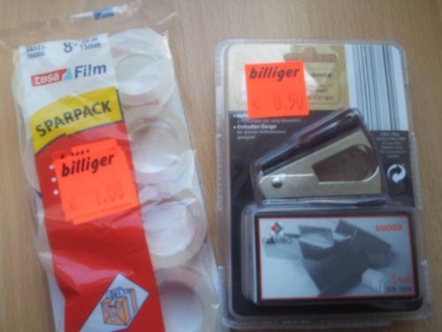 [LOKAL + OFFLINE] Büromaterial bei Aldi Nord in Bochum reduziert, z.B. Tesafilm (8´er) von 1,79 auf 1,00 €