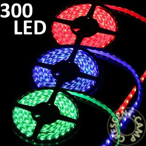 300 LED 5M 5050 SMD RGB Strip Streifen Wasserdicht mit Controller 12V Trafo
