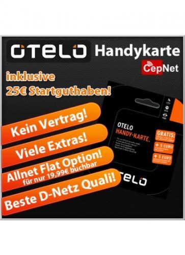 OTELO Handy-Karte 25,-€ Startguthaben