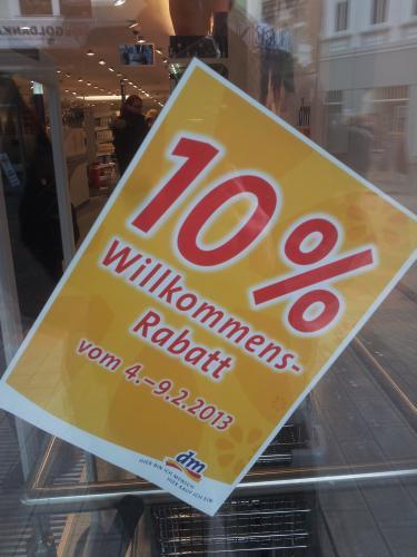 [LOKAL + OFFLINE] DM Neueröffnung in Gelsenkirchen - 10% Willkommens-Rabatt vom 4.2. - 9.2.2013