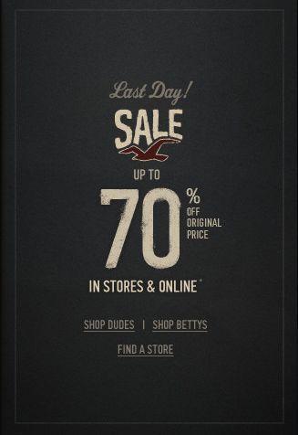 Hollister bis -70% & Abercrombie bis -50% Sale: letzter Tag!