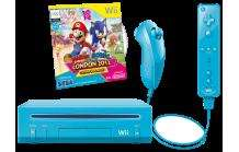 MM Faschings-Knaller: NINTENDO Wii Mario + Sonic Pack blau - Limited Edition