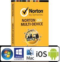 Norton 360 Multi-Device - 3 Geräte (PC, MAC, Android) für 19,49€