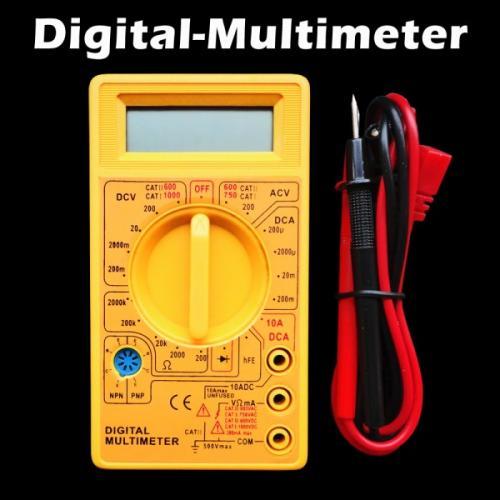 TÜV geprüftes Digital Multimeter inkl. 9V Batterie für 4,90 €. inkl. Versand
