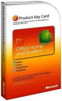 Vollversion MS MICROSOFT OFFICE HOME AND STUDENT 2010 für nur 59,90 EUR inkl. Versand!