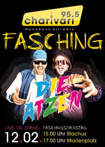 [lokal München] Kostenloses Konzert von DIE ATZEN am 12.02.2013 @ charivari 95.5 Faschingsbühnen, Innenstadt